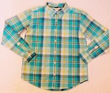NEW GYMBOREE Mens Spring Easter Dad Father Blue Green Plaid Dress Shirt S M NWT