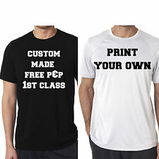 CUSTOM PRINT YOUR OWN DESIGN SHIRT T-SHIRT MENS stag do work logo  personalised
