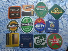 12 DIFFERENT BEER MATS .VARIOUS DESIGNS. VARIOUS DIFF SETS.FREE P&P IN UK