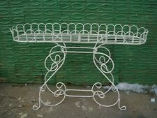 Our Biggest 4' Wide Curl Fern Stand Wrought Iron Planter