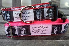 The Beatles Dog Collar, Beatles Inspired Ribbon Collar or Leash, Imagine Collar