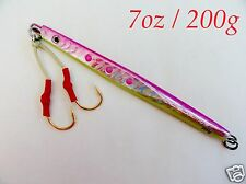 Speed Vertical jigs 7oz / 200g Pink Knife Butterfly Fishing Lures- Choose Pieces