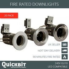 20 X FIRE RATED DOWNLIGHTS GU10 MAINS 240V LED RECESSED SPOTLIGHT CEILING LIGHTS