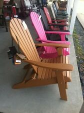 Adirondack Chair folding-poly lumber- HDPE (high density recycled plastic)