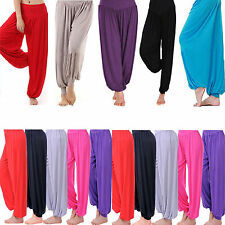 New Women's/Ladies Full Length Ali Baba Harem Pants Trousers Baggy Leggings
