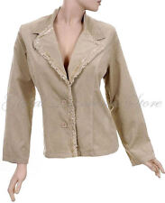COAT TAN KHAKI LIGHT CORDUROY JACKET with BUTTON FRONT PLUS, 3XL and 1XL