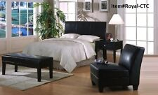 Upholstered Leather Headboard - Full & Queen - or-  king & CAL king Size