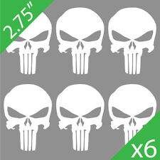 "(6) 2.75"" Tall • The Punisher Skull Logo Vinyl Decals Airsoft Magazine Stickers"