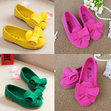 Kids Girls Kids Princess Shoes  Bow Candy Color Soft Flat Shoes Children's Gifts