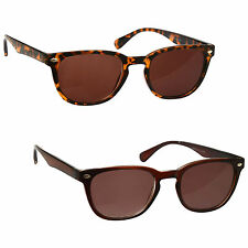 Sun Readers 2 Pack Reading Glasses Brown Tortoiseshell & Brown UVSR2PK014_015