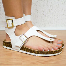 Qupid Womens White Crocodile High-Top Thong Fashion Sandal LAUDY-13
