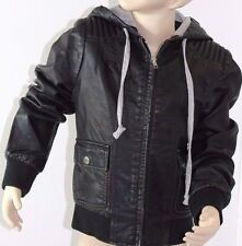 Girl's Billabong Kingston Leather Look Jacket. Size 8 - 14. NWT, RRP $99.99.