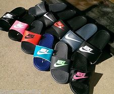 Nike Benassi JDI Slide Women's & Men's Black with NIKE SWOOSH Sandals NWOB $35