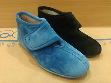 New Womens Slippers Shoes Moccasin Outdoor-Indoor  Slip On Velcro Furry Loafer