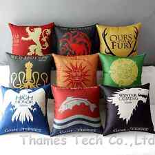 Game of Thrones 9 House Sigils Home Decorative Flat Pillow Case Cushion Cover