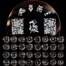Nail Art Stamp Stamping Printe Flower Animal Stars Image Template Plate W Series