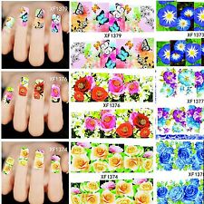 Nail Art  Full Wrap Water Transfer Slide Flower Decals Stickers Decor 50 Designs