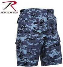 Sky Blue Digital Camouflage Military BDU Combat Cargo Camo Army Shorts 67313
