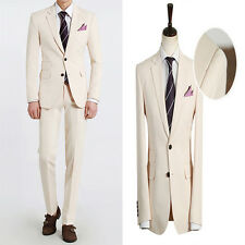 Premium New for Mens simple wedding formal Ivory 2Button Best 2piece suits 322