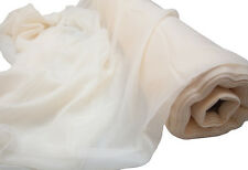 IVORY VOILE FABRIC 2.8M WIDTH SOLD PER METER EVENTS WEDDINGS CRAFT SWAGGING