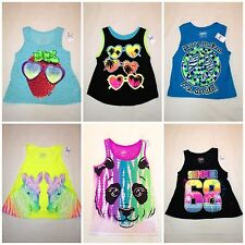 NEW Girls JUSTICE ASSORTED TANK TOPS Size 6 7 8 10 12 14 Spring Break