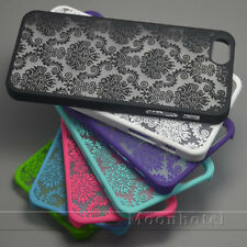 Rubberized Retro Damask Pattern Matte Hard Case For iPhone 6 6 Plus 5 5S 5c 4 4s