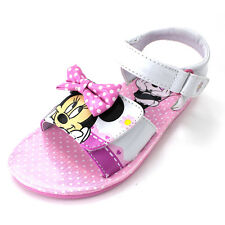 Minnie Mouse Girls White Sandals Shoes MNA14L305A2 7 8 9 10 11 12 Kids Toddler