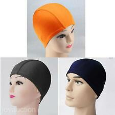 Stylish Women Men Sports Bathing Cap Pure Color Soft Elastic Diving Swimming Hat