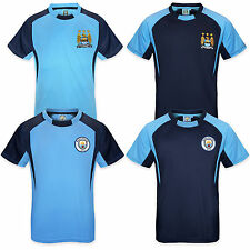 Manchester City FC Official Gift Boys Poly Training Kit T-Shirt (RRP £14.99!)