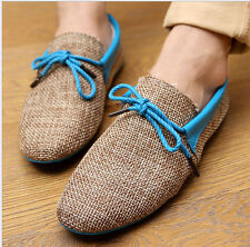Summer Men Casual Breathable Woven Slip Ons Loafers Driving Moccasins Shoes C290