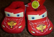Boys toddler Disney CARS LIGHTNING McQueen Slippers Size 5/6 7/8 GLOWS In Dark