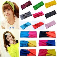 Hot Sale Women Turban Head Wrap Headband Twisted Knotted Hair Band 30 Colors NEW