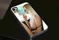 Sexy Girl Smoke Boobs FHM Phone Case Fits iPhone 4 4s 5 5s 5c 6