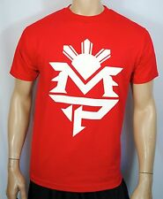 Manny Pacquiao Training T Shirt Pacman Money Tee Boxing Mens Red MP