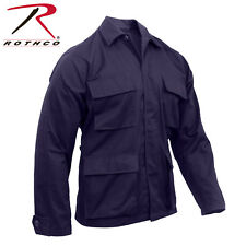 Navy Blue Tactical Military Police Poly/Cott Long Sleeve Fatigue BDU Shirt 8885#