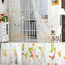 Trendy Butterfly Tulle Door Window Curtain Drape Panel Sheer Scarf Valances E98