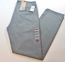New Men Authentic Levi's Gray/Grey Chino Jeans Regular Fit Pants #80001 - $58.00