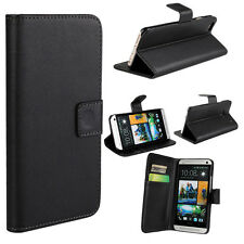 Luxury PU Leather Wallet Flip Case Cover Cover For HTC Desire One Series BLACK