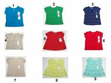 NWT Toddler kids Baby Girls Tops Shirts Size:12,24,3T,5T OKIE-DOKIE,FADED Glory,
