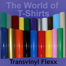 "IRON-ON Heat Transfer Vinyl ALL Cutting Machines Tshirts - 10"" x 5 Foot Roll"