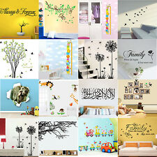 Removable Vinyl Quote Wall Art Stickers Decal Decor Mural Home Room Branch DIY