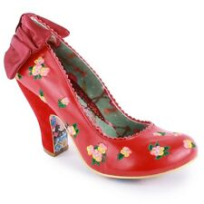 Brand new Irregular Choice Easy P Sea Womens Leather Shoes in Red - 5-8