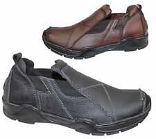 MENS LEATHER CASUAL COMFORT WALKING SLIP ON MOCASSIN LOAFERS DRIVING DECK SHOES