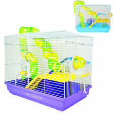 100% New Hamster Rodent Gerbil Mouse Mice Critter Two Levels Cage Small Animal