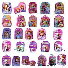 Disney Girl's Full Size School Backpack (Disney Frozen / Sofia / Princess)