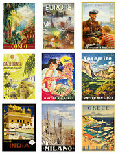 Travel Vintage Retro Old Style Art Wall Home Decor Prints Posters A4 or A3 size