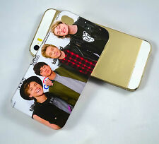 5 SOS ALL GROUP MEMBERS UK ROCK BAND HARD PHONE CASE COVER FOR IPHONE 4 4S 5 5S