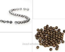50/100/200pcs Metal beads Antique Silver/Bronze Tibetan Silver Spacer Bead 3.5mm