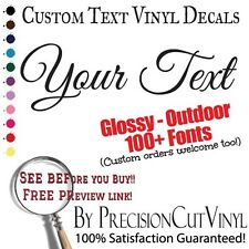 Custom Text Vinyl Auto Lettering Personalized Decal Truck Car Jeep Outdoor