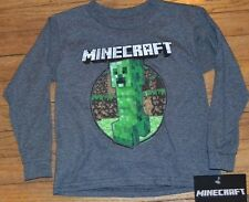 Creeper Minecraft Long Sleeve Boys Youth Character T-Shirt Officially Licensed